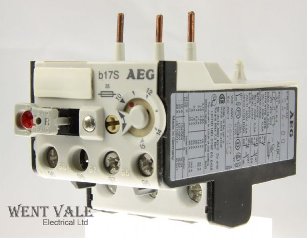 AEG B17S-910-341-925-00 - 2A Thermal Overload Relay 0.4 - 0.63a New In Box
